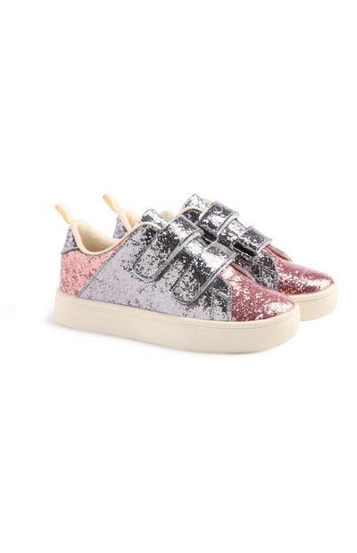 Bunte Sneaker mit Glitzer
