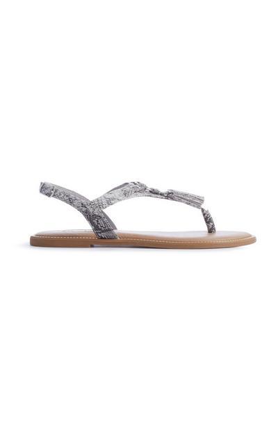 Snake Tassel Thong Sandals