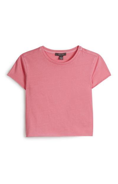 Camiseta corta rosa