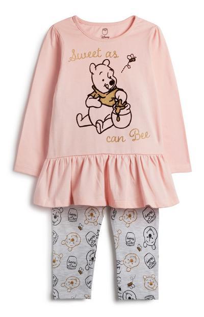 Outfit Winnie de Poeh voor baby, meisjes, 2-delig