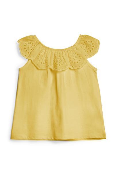 Camiseta amarilla para niña