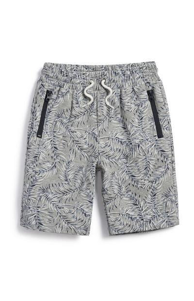 Pantalón corto gris de niño mayor