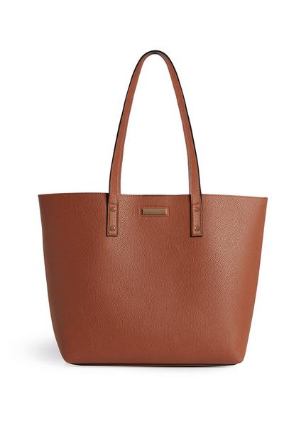 Tan Shopper Tote