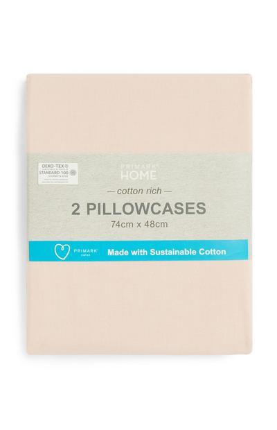 Conjunto de 2fundas de almohada de algodón sostenible