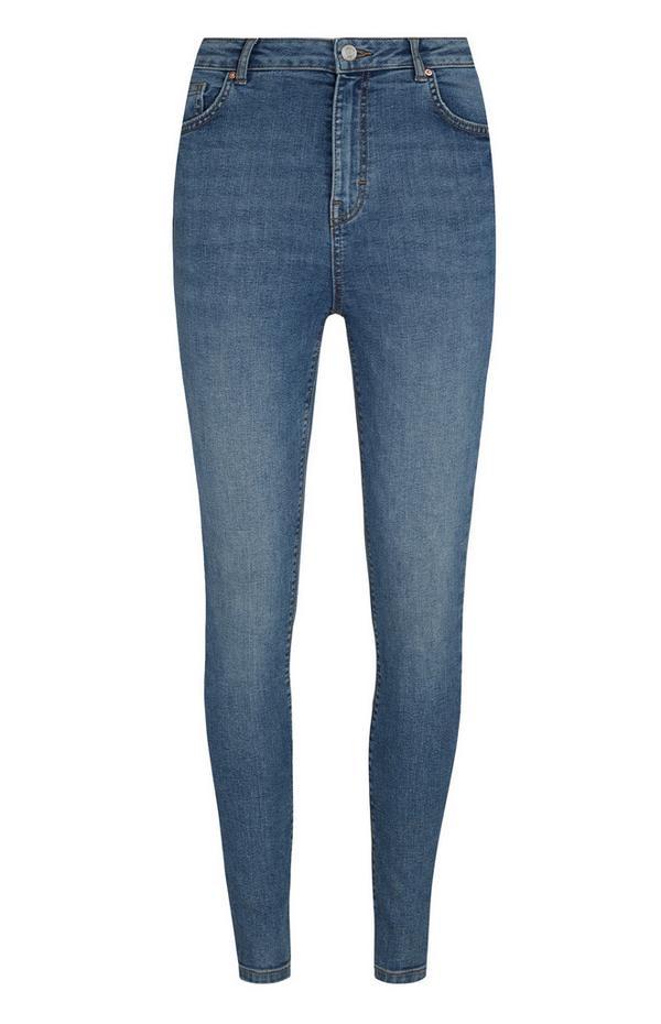 Jean taille haute bleu moyen