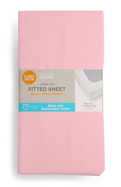 Spannbettlaken aus nachhaltiger Baumwolle, Einzelbett