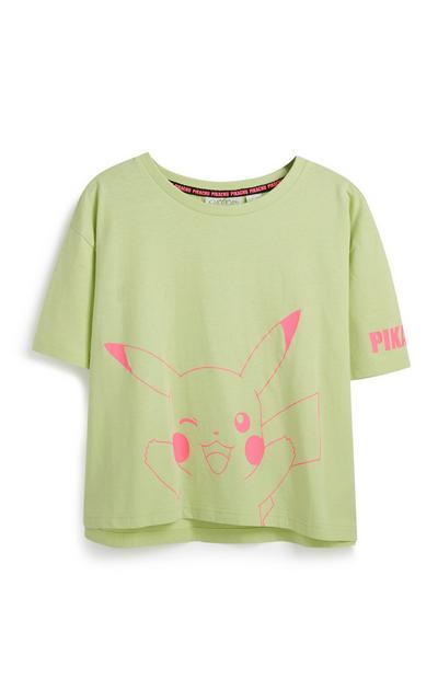 T-shirt verde Pokemon