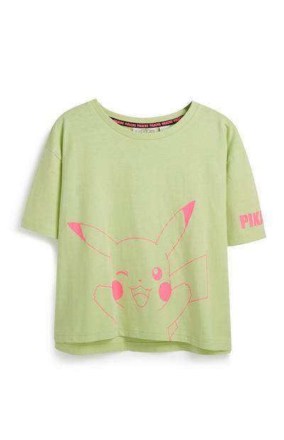 T-shirt vert Pokémon