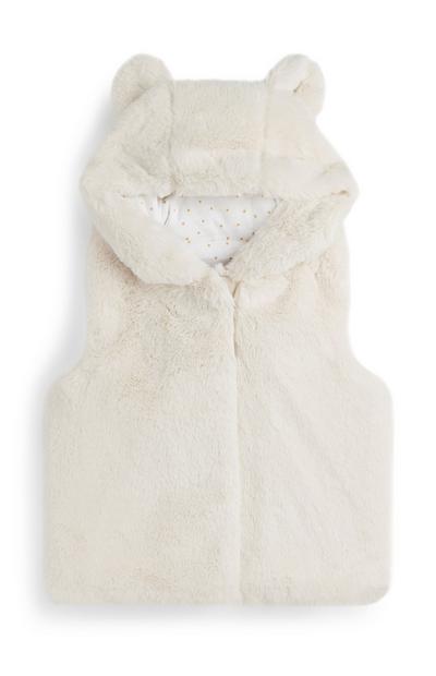 Manteau en fourrure bébé fille