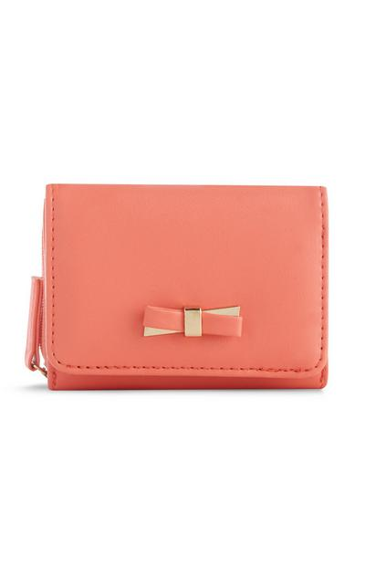 Coral Bow Coin Purse