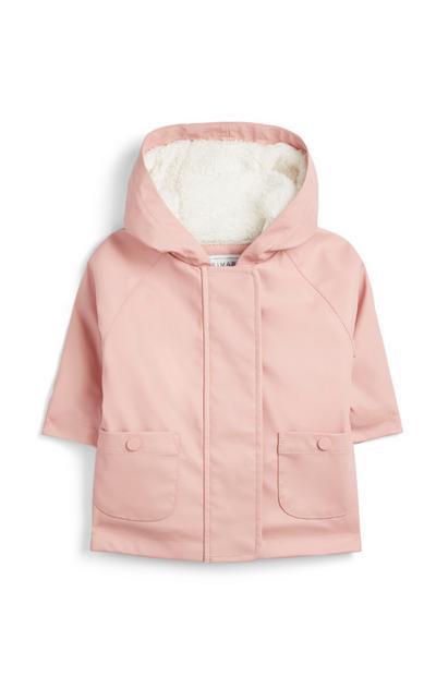 Impermeable rosa para bebé niña