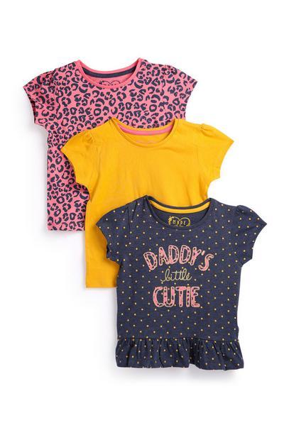 Lot de 3 T-shirts bébé fille