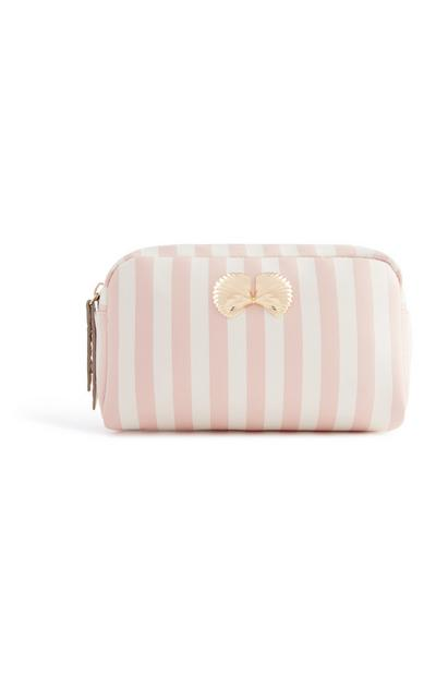 Shell Striped Makeup Bag