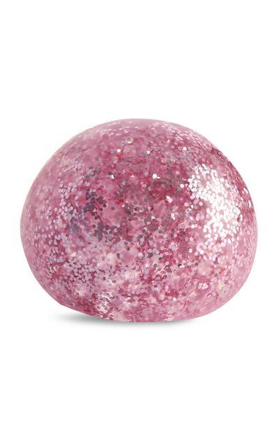 Bola gel brilhos cor-de-rosa