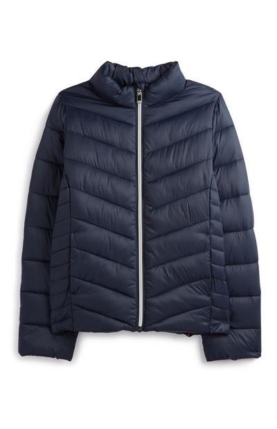 Older Girl Navy Puffer Jacket