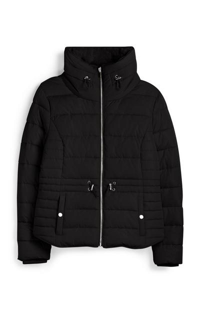 Black Funnel Padded Coat