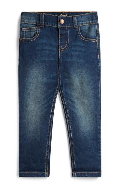 Donkerblauwe stretch skinny jeans, jongens