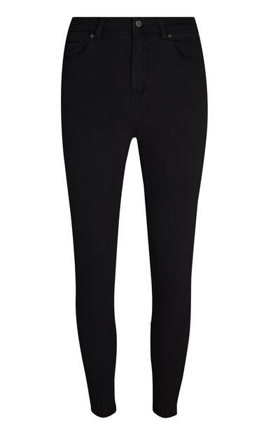 Schwarze Skinny Jeans mit Super-Stretch