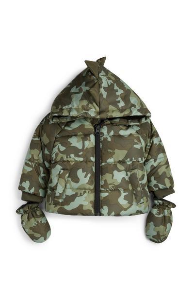 Babyjas met camouflageprint en wanten, jongens