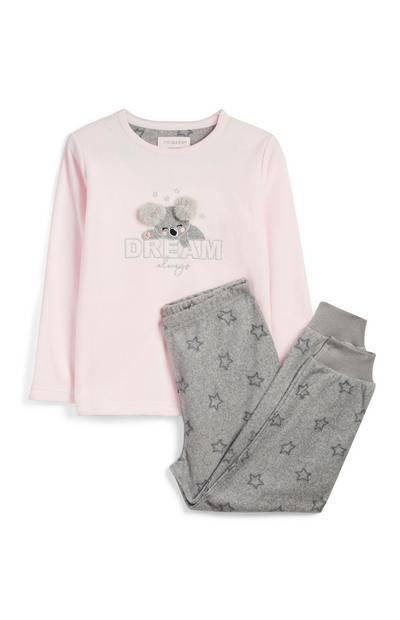 Conjunto de pijama de Koala para niña pequeña