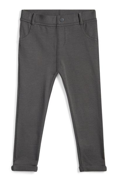 Pantalon gris bébé fille