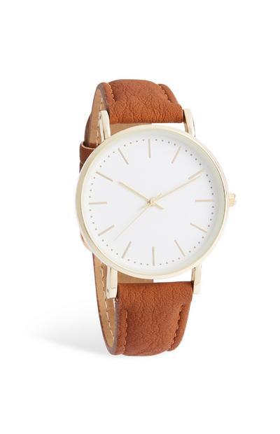 Relógio bracelete castanho