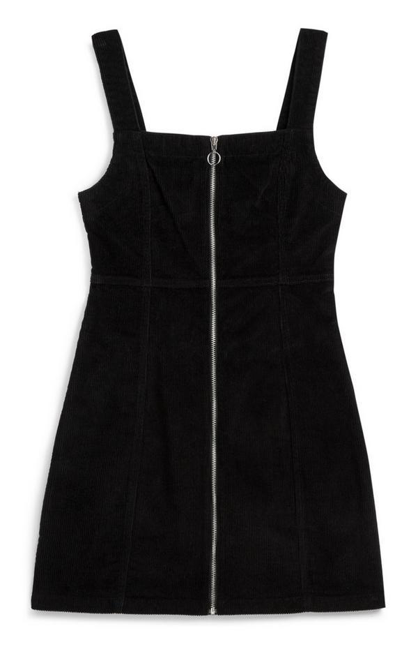 Vestido macacão bombazina preto