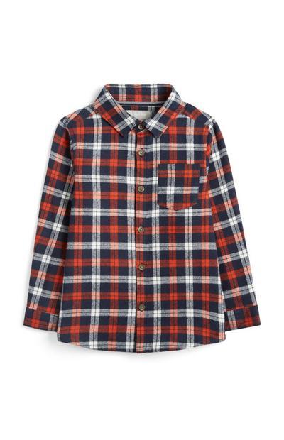 Baby Boy Red Check Shirt