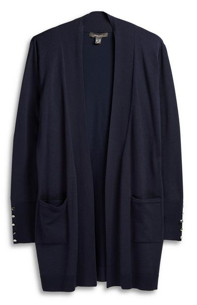 Navy Long Cardigan