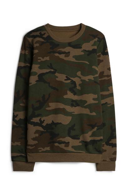 Sweat-shirt à motif camouflage pour ado