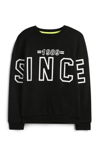 Črn pulover za starejše dečke
