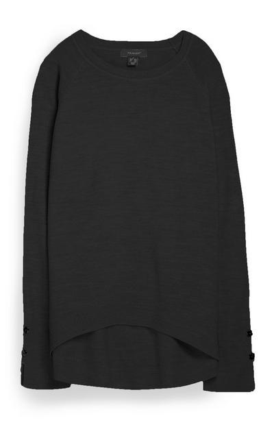 Superweicher Pullover in Schwarz