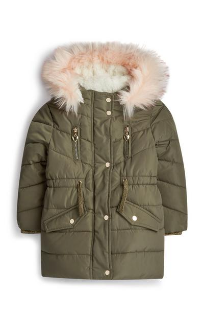 Younger Girl Olive Padded Parka