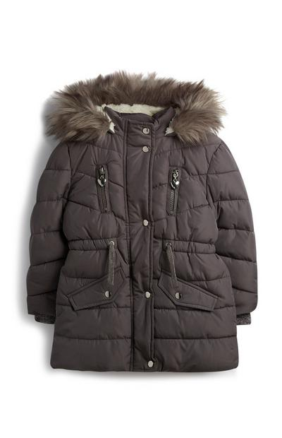 Younger Girl Charcoal Parka