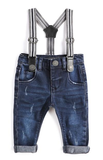 Baby Boy Denim Jeans With Suspenders