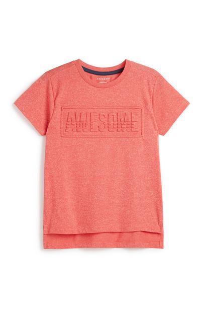 T-shirt slogan menino