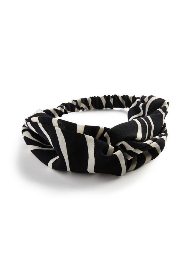 Black Striped Headband