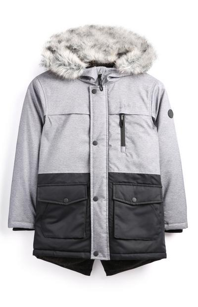 Older Boy Grey Parka