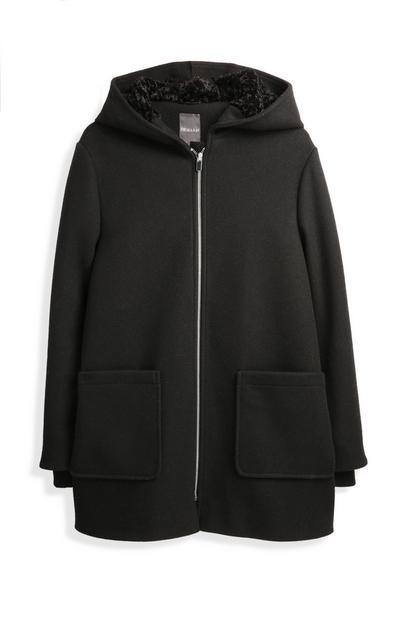 Black Lined Duffle Coat