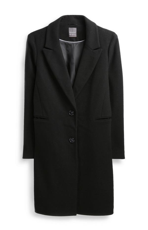 Langer Mantel in Schwarz