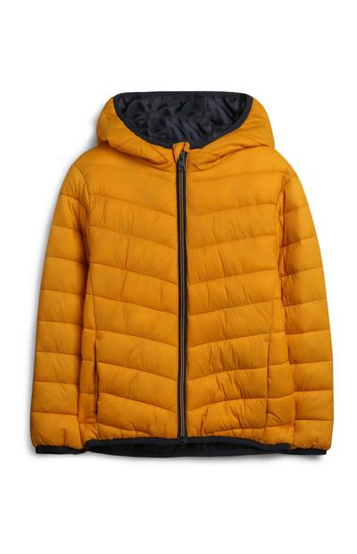 Younger Boy Mustard Puffer Jacket