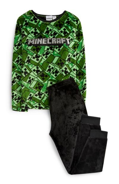 Pull vert et pantalon de pyjama Minecraft ado