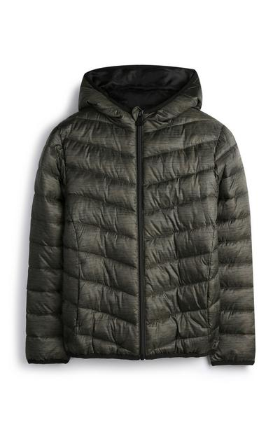 Younger Boy Olive Puffer Jacket