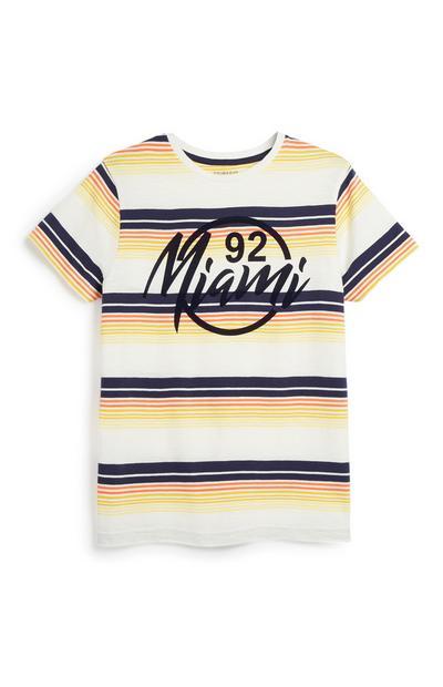 T-shirt à rayures Miami ado