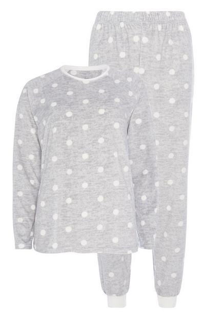 Pyjama à pois gris