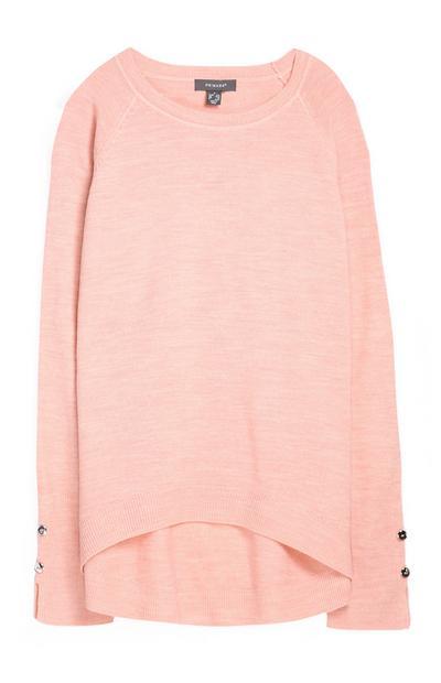 Camisola superssuave cor-de-rosa