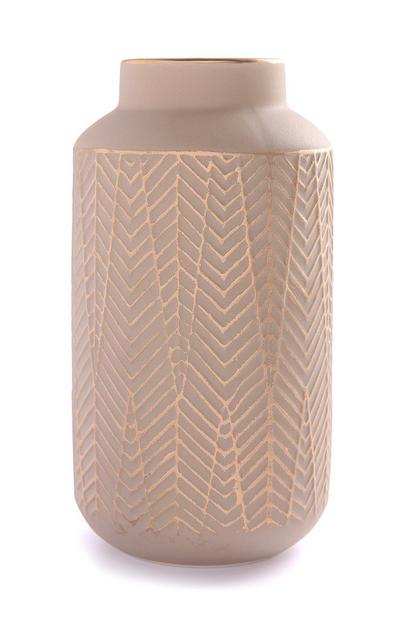 Strukturierte Keramikvase