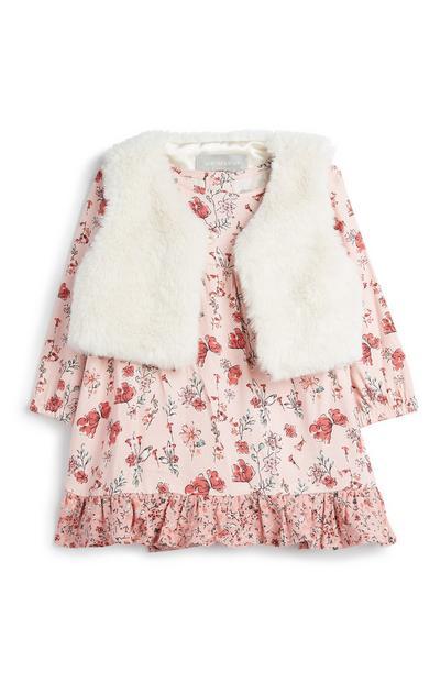 Baby Girl Floral Dress & Vest