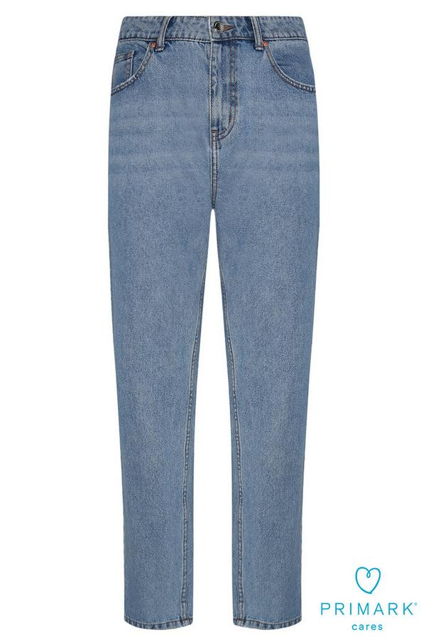 Light Blue Sustainable Cotton Mom Jeans