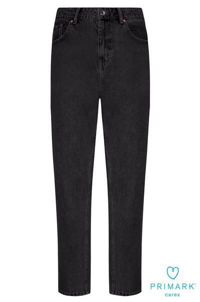 Schwarze Mom-Jeans aus nachhaltiger Baumwolle